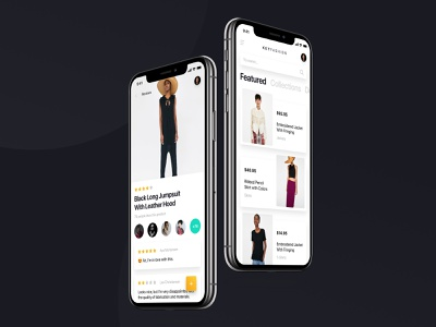 Key Fashion iOS UI Kit - Panoply Store Design Bundle user experience typography minimal free photoshop sketch freebie ios design app ui kit ux ui shop store fashion