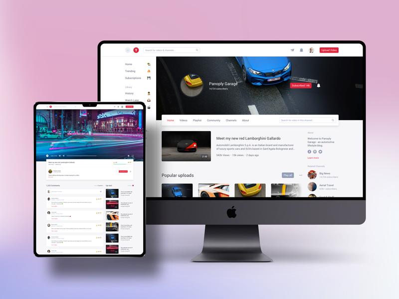 Clone UI Kit - Video sharing like YouTube