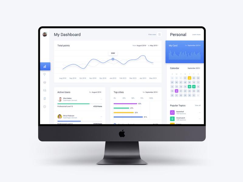 Free Dashboard Web App Template - Light