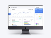 Free Dashboard Web App Template - Light