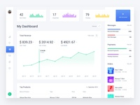 Web Dashboard & Statistics UI Kit 3 Light