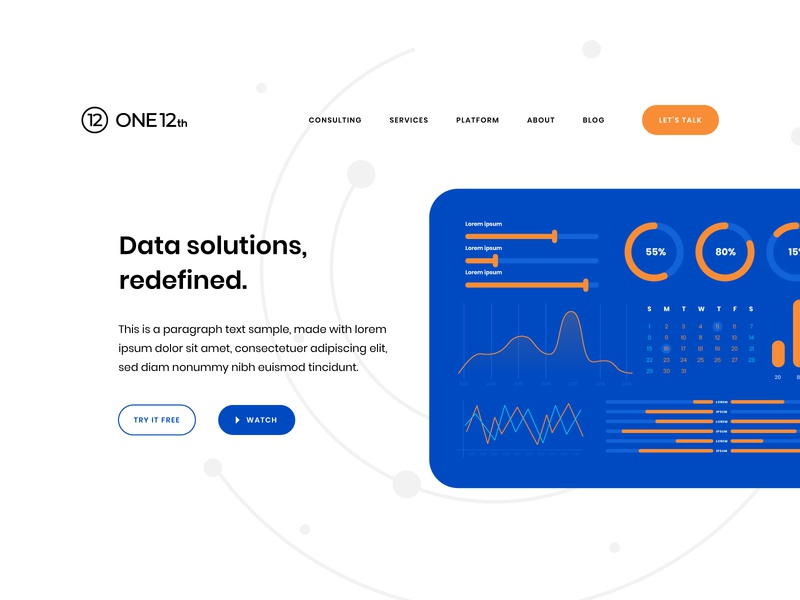 ONE12th Typography + Dashboard 4 dashboard design ui ux dashboard tech identity modern identity modern logo visual identity brand identity logo design logo blue modern cube hexagon tech consulting services automation business data
