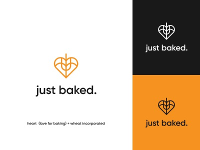 just baked final logo visual identity logo design brand identity bread organic rolling pin wheat logo yellow wheat lettering wordmark logo wordmark logo pastry bakery logo bakery