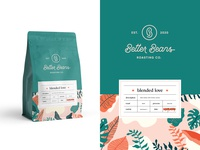 Better Beans Packaging + Label leaves packaging modern ethiopian coffee brand brand identity coffee logo logo design logo coffee beans better