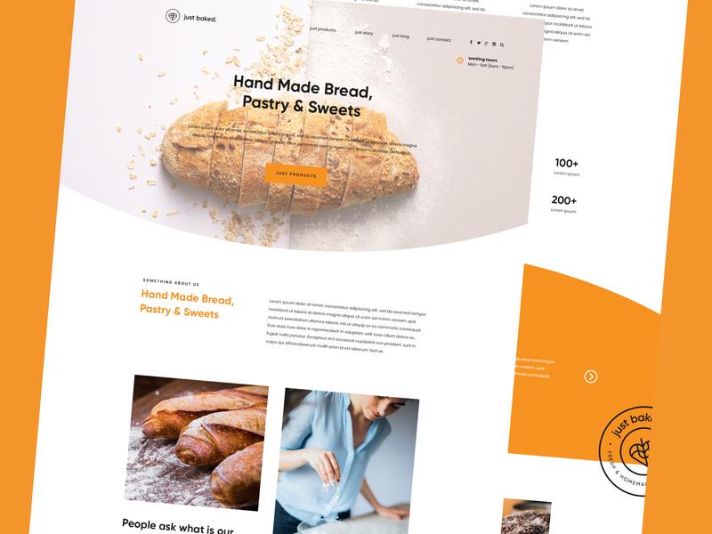 Just Baked Website web development uiux ux ui logo design web design website bakery website bakery logo bakery