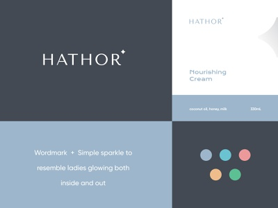 Hathor Logo 3 brand identity logo design beauty identity minimalist modern logo wordmark beauty brand wellness skincare brand women woman skincare organic natural cosmetics beauty hathor