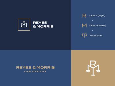 Reyes&Morris Chosen Logo law identity law logo law brand law firm letter logo design letters visual identity brand identity monogram letterform letter logo design modern abstract logo