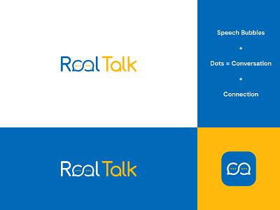 Final Logo - RealTalk Application connection logo connection speech pathologist speech therapy speech logo speech brand identity logo design modern abstract logo