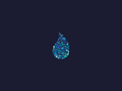 Drops innovative blue logo abstract drops waterdrop drop