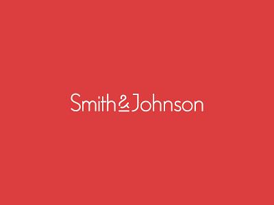 Smith & Johnson sj modern red ampersand bank