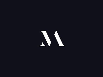 MA monogram letters abstract monogram ma