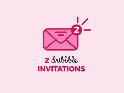2 Dribbble invites invitations two invites dribbble