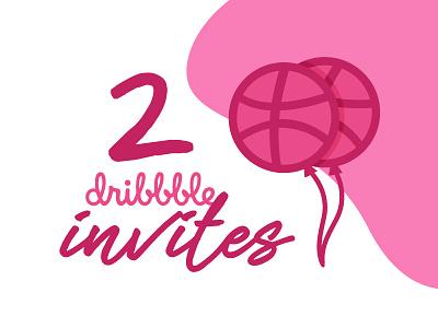 2 Dribbble Invites drafts draft invitations invite invites dribbble