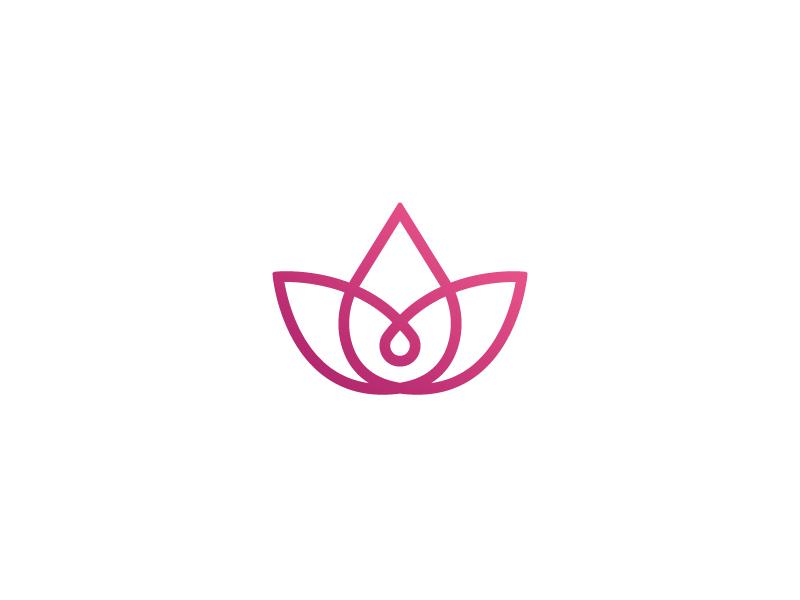 Lotus Leaf relaxation massage lotus leaf leaf lotus purple design modern logo abstract
