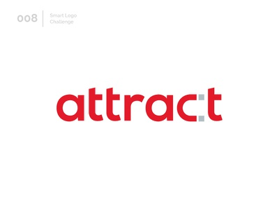 8/100 Daily Smart Logo Challenge 100 day challenge 100 day project logo challenge challenge wordmark magnet red letters modern logo letter abstract