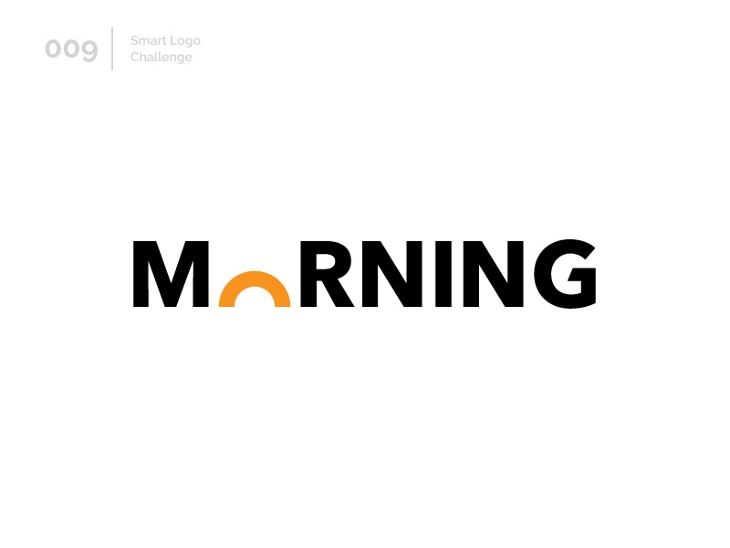 9/100 Daily Smart Logo Challenge sunshine sun morning typography 100 day challenge 100 day project wordmark design letterform letters modern logo letter abstract