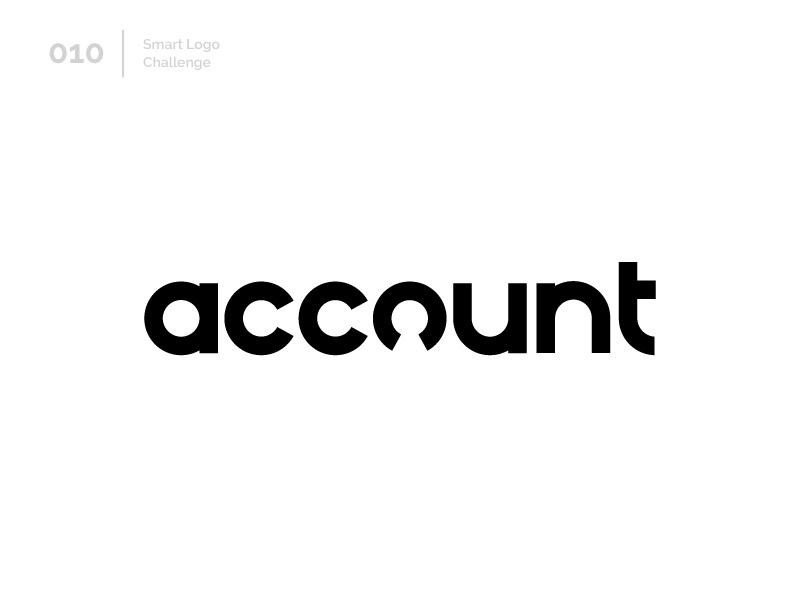 10/100 Daily Smart Logo Challenge negative space people human account typography 100 day challenge 100 day project wordmark design letterform letters modern logo letter abstract