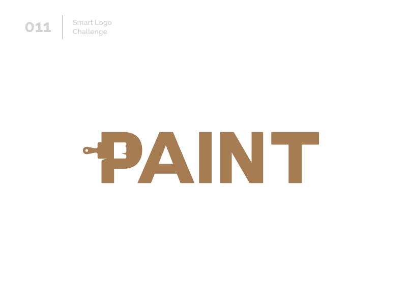 11/100 Daily Smart Logo Challenge paint brush paint logo challenge challenge 100 day challenge 100 day project design typography wordmark letterform letters modern logo letter abstract