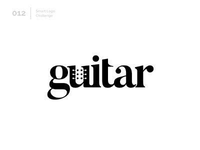 12/100 Daily Smart Logo Challenge music guitar wordmark 100 day challenge 100 day project design letterform letters modern logo letter abstract