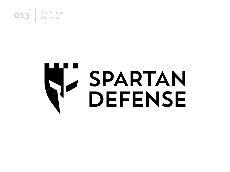 13/100 Daily Smart Logo Challenge negative space defense castle spartan logo challenge 100 day challenge 100 day project illustration design modern logo abstract