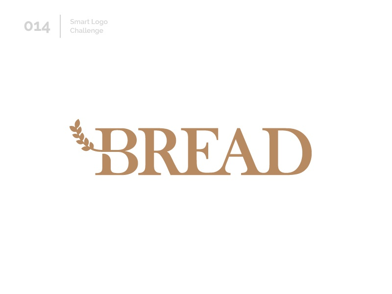 14/100 Daily Smart Logo Challenge bakery bread branch logo challenge 100 day challenge 100 day project design letterform letters modern logo letter abstract