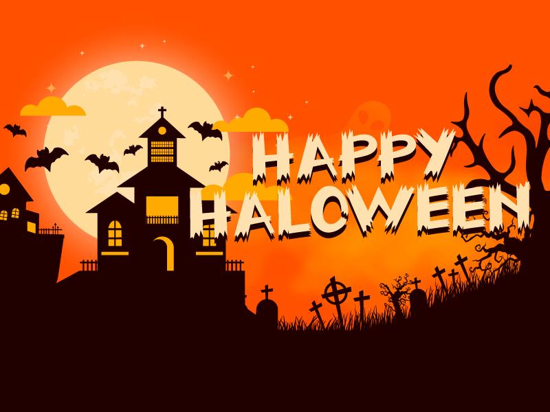Happy Halloween design abstract halloween happy