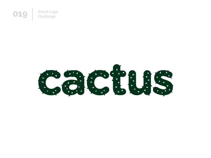 19/100 Daily Smart Logo Challenge logo challenge 100 day challenge 100 day project wordmark letterform letters logo letter abstract cactus