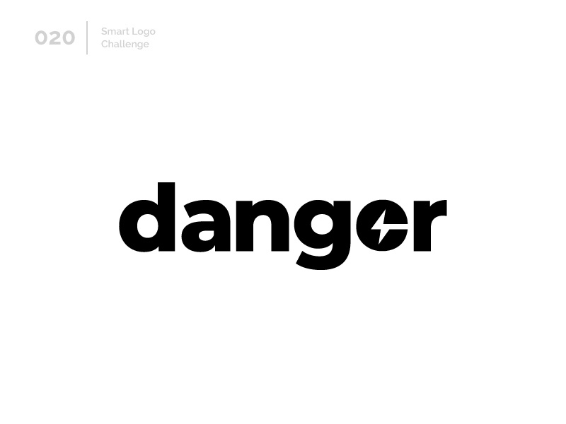20/100 Daily Smart Logo Challenge logo challenge 100 day challenge 100 day project letterform letters logo letter abstract wordmark negative space thunder danger
