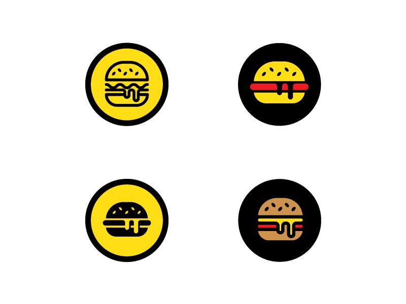 Burgers yellow burger modern abstract fast food burgers burger logo