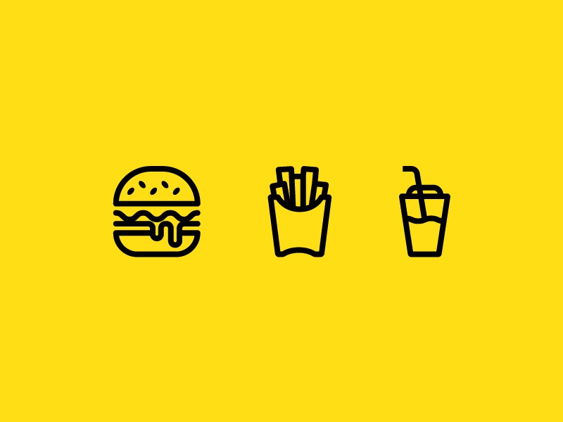 Fast Food Pattern modern pattern logo shake milkshake french fries fries burgers burger fast food