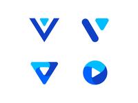 Letter V media logo