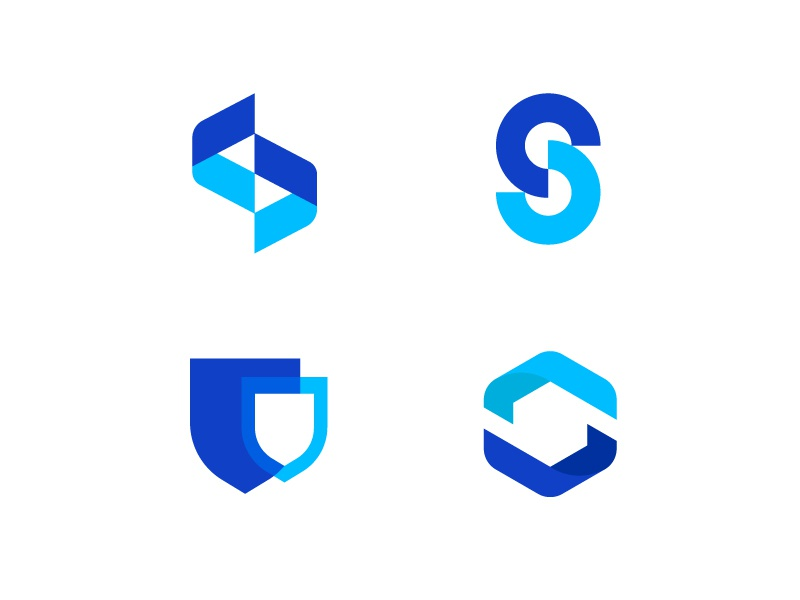 Letter S logo insurance broker insurance letter s design blue letters modern logo letter abstract