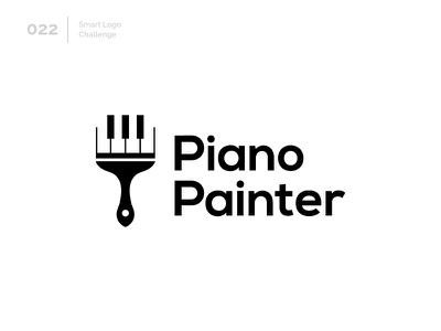 22/100 Daily Smart Logo Challenge painter paint piano logo challenge 100 day challenge 100 day project design modern logo abstract