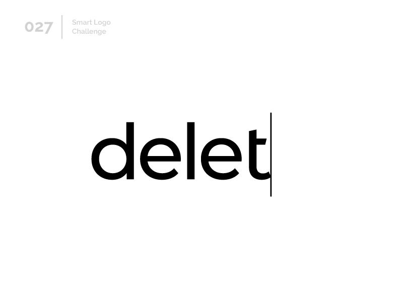 27/100 Daily Smart Logo Challenge erase delete logo challenge 100 day challenge 100 day project letterform letters modern letter logo abstract