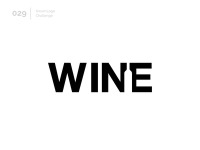 29/100 Daily Smart Logo Challenge wine bottle negativespace wine logo challenge 100 day challenge wordmark 100 day project letterform letters modern logo letter abstract