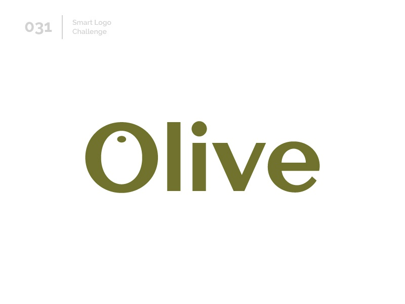 31/100 Daily Smart Logo Challenge logo challenge wordmark 100 day challenge 100 day project letterform letters modern letter logo abstract olive oil olive