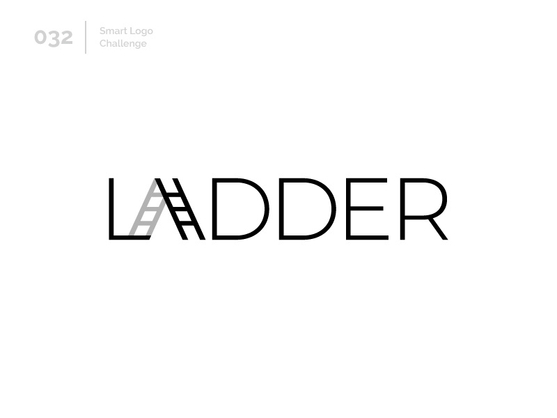 32/100 Daily Smart Logo Challenge stairs ladder logo challenge design 100 day challenge wordmark 100 day project letterform letters modern logo letter abstract