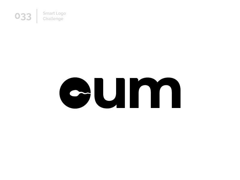 33/100 Daily Smart Logo Challenge logo challenge 100 day challenge wordmark 100 day project letterform letters modern letter logo abstract sperm cum