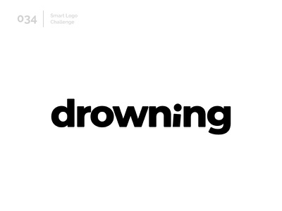 34/100 Daily Smart Logo Challenge logo challenge wordmark 100 day challenge 100 day project letterform letters logo letter abstract sea water drown drowning