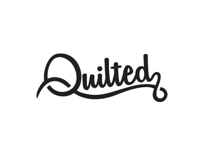 Quilted wordmark typography letterform letters letter logo abstract sewing quilted quilting quilt