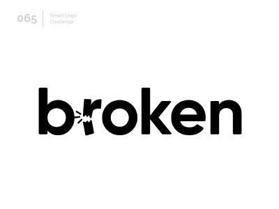 65/100 Daily Smart Logo Challenge typography broken logo challenge wordmark 100 day challenge 100 day project letterform letters modern logo letter abstract