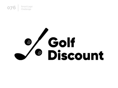 76/100 Daily Smart Logo Challenge golf ball golf logo golf club discount golf logo challenge 100 day challenge 100 day project logo abstract
