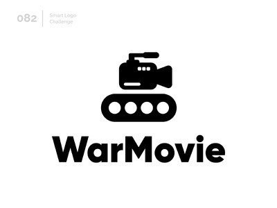 82/100 Daily Smart Logo Challenge logo challenge 100 day challenge 100 day project logo abstract movie tank war