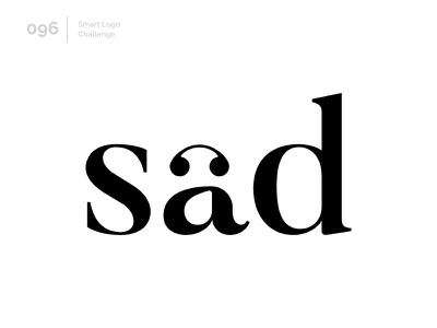 96/100 Daily Smart Logo Challenge typography wordmark logo challenge 100 day challenge letterform 100 day project letters letter modern abstract logo sad face smile unhappy sad