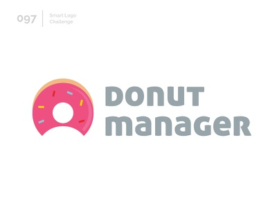 97/100 Daily Smart Logo Challenge logo challenge 100 day challenge 100 day project logo abstract sweet donuts doughnut donut