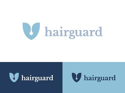 Hair Guard Logo hair care hair growth hair loss follicle negative space shield hair abstract