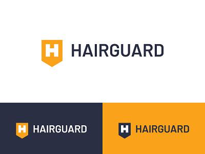 Hair Guard Logo logo letter h hair growth hair product hair loss hair care shield guard hair
