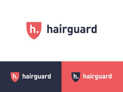 Hair Guard Logo hair growth hair loss hair hair care guard shield letter h letters letter modern logo