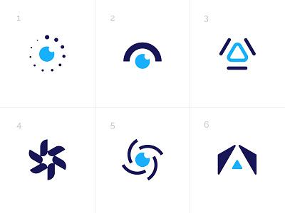 Scent Sensor geometric laser visual identity brand identity logo abstract particles odor sensor