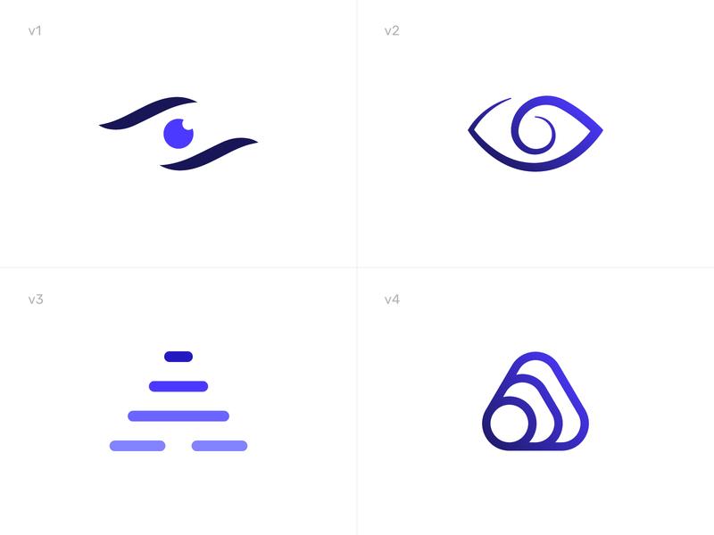 Vision Sensor Logos brand identity visual identity logo logo design eyes technology scent sensor view eye vision